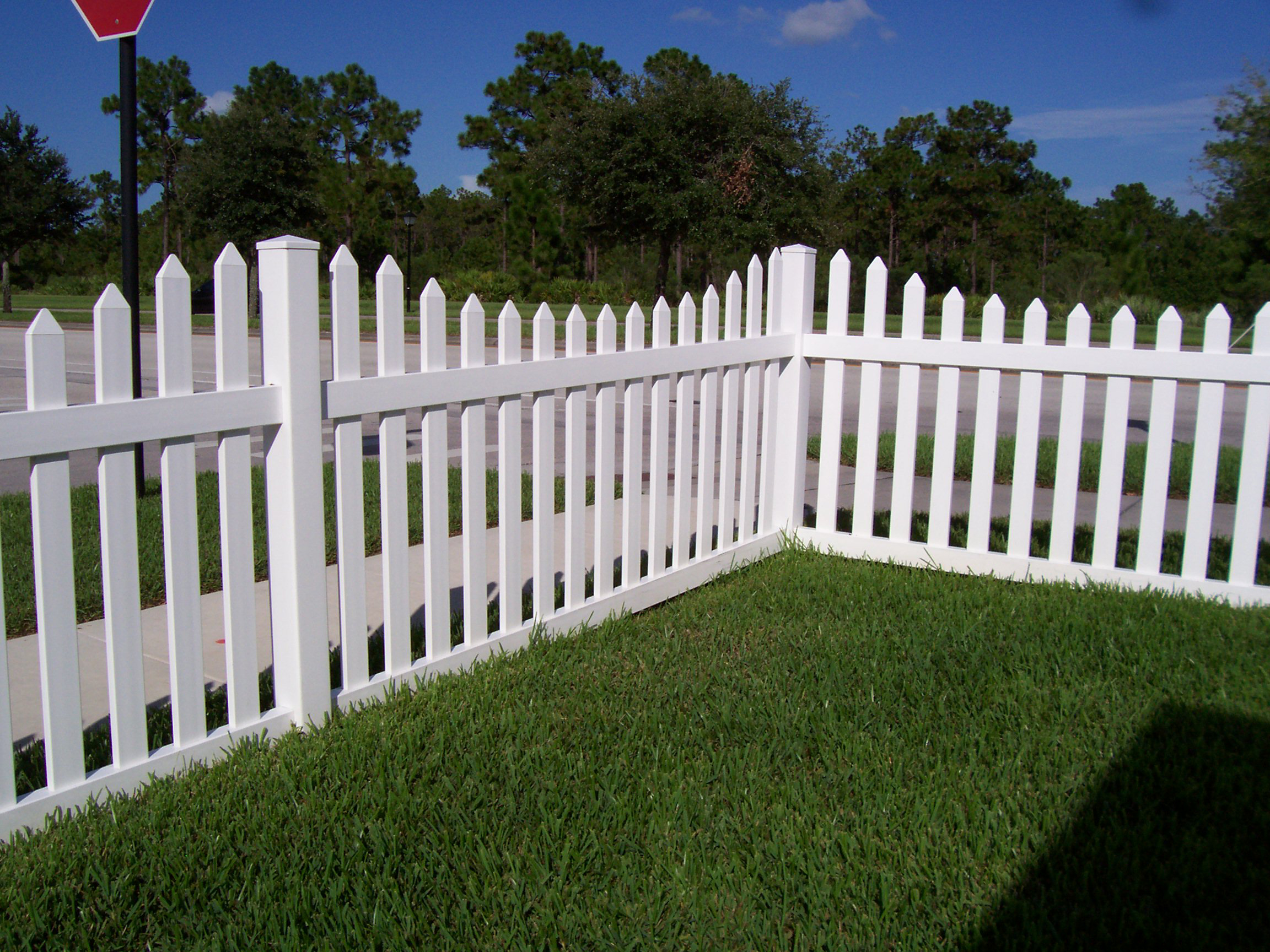 white fence. Our Vinyl Fences Are Built To Last For Years Come. White Fence